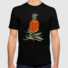 Bottlebrush Flower - White T-shirt