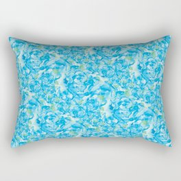 Blue Rose Garden Rectangular Pillow