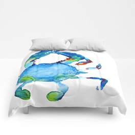 Blue Claw Crab - Nautical - Summer - Ocean - Sea Life Comforters