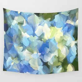 Blue Blue Electric Blue Wall Tapestry