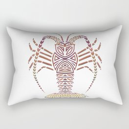 Tribal Caribbean Lobster Rectangular Pillow