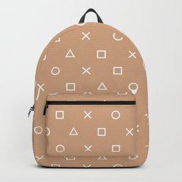 Beige Gamer Pattern Backpack
