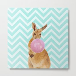 Bubble Gum - Kangaroo Metal Print