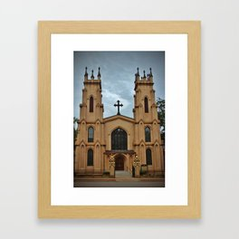 Cathedral At Night Framed Art Print