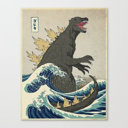 The Great Godzilla off Kanagawa Canvas Print