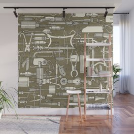 fiendish incisions sage Wall Mural