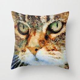 Tabby Cat Throw Pillow