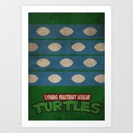 LYNAS Mutant Ninja Turtles: Leonardo Art Print