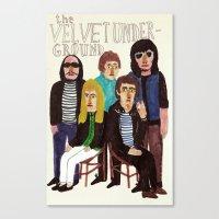 velvet underground Canvas Prints featuring The Velvet Underground by Angela Dalinger