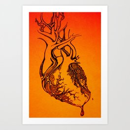 still beating Art Print