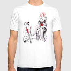 Cabaret Cafe MEDIUM Mens Fitted Tee White