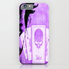 Purple Jokester iPhone Case