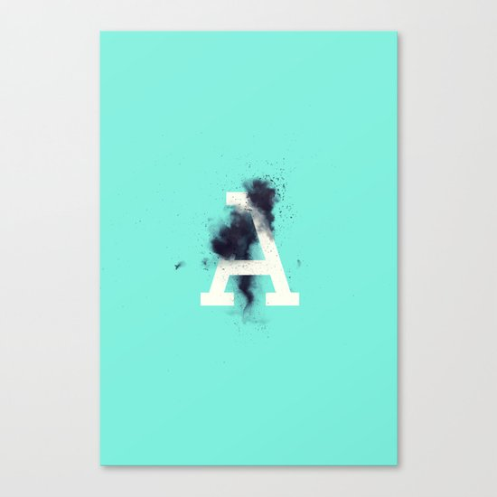 A is for Entropy Canvas Print
