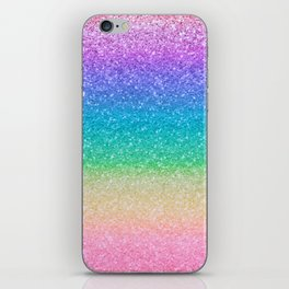 Rainbow Glitter iPhone Skin