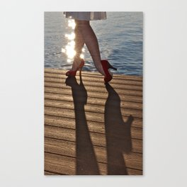 When High Heels Meet Hardwood. Canvas Print