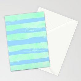 Trendy Stripes Blue Raspberry + Mint Meringue Stationery Cards