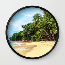 Tropical Beach - Landscape Nature Photography Wall Clock