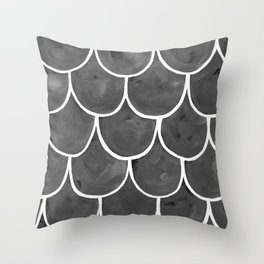 Grey chalk roof tiles Throw Pillow