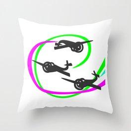 Aerobatic planes  Vivid Vapor trails Throw Pillow