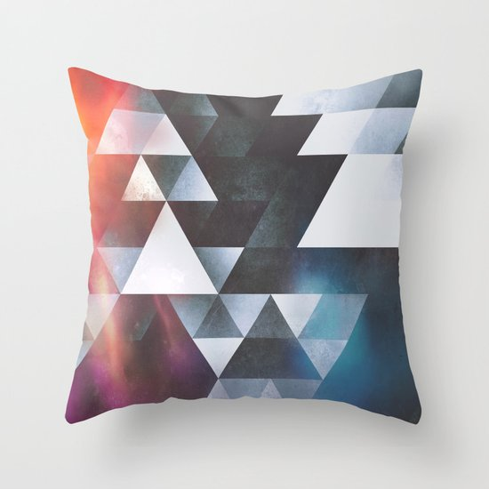 wyy tww gryy Throw Pillow
