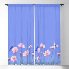 Cosmos and shrimp Blackout Curtain