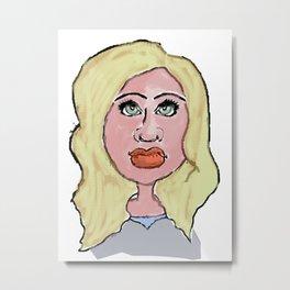 Blonde looking Metal Print
