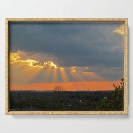 God Rays Sunset (2) Serving Tray