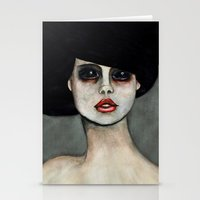 three of the possessed Stationery Cards featuring Possessed by Lisa Kelsall