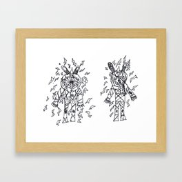 Wartheaded Twins by Bennett Vickery Framed Art Print