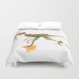 Raptor Orchid Garden Duvet Cover