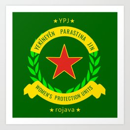 YPJ, Women's Protection Units Art Print