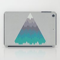 geology iPad Cases featuring Many Mountains by Rick Crane