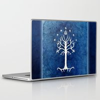 lotr Laptop & iPad Skins featuring The White Tree by Jackie Sullivan