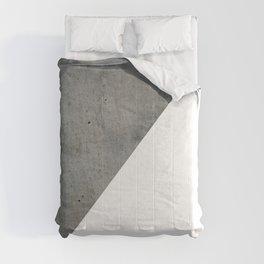 Geometrical Color Block Diagonal Concrete Vs White Comforters
