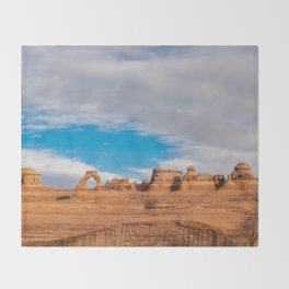 Delicate Arch 0414 - Arches National Park, Moab, Utah Throw Blanket