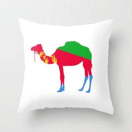 Eritrea Camel Flag Tigrinya Eritrea Gift Map Symbol print Throw Pillow