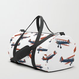 Red White and Blue Biplanes Duffle Bag