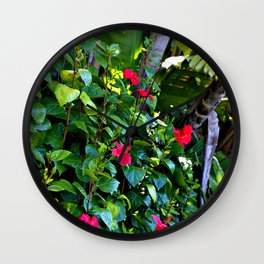 Red and green power of nature Wall Clock