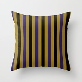 Baltimore Football Team Colors Throw Pillow
