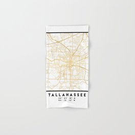 TALLAHASSEE FLORIDA CITY STREET MAP ART Hand & Bath Towel