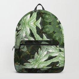Tropical Twist - Green Leaves Kaleidoscope, Mandala Backpack