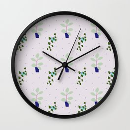 My favourite indoor plants (that I struggle keeping alive) Wall Clock