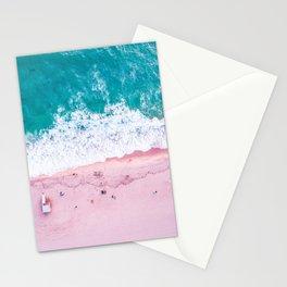 California coastline sand and surf Stationery Cards