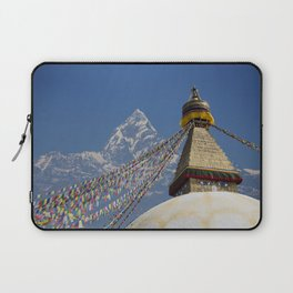 BOUDHANATH AND MACHAPUCHARE NEPAL COMPOSITE Laptop Sleeve