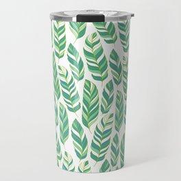 Pattern of tropical leaves. Travel Mug