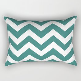 Myrtle green - green color - Zigzag Chevron Pattern Rectangular Pillow