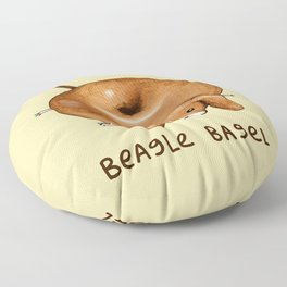 Beagle Bagel Floor Pillow