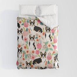 Welsh Corgi tri colored cardigan corgi dog breed must have corgi gifts for dog person pet friendly Comforters