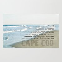 cape cod Area & Throw Rugs featuring cape cod by marie grady palcic