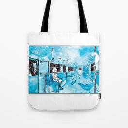 Underwater Subway Tote Bag